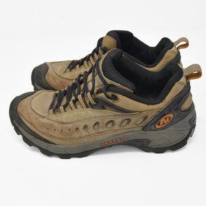 Merrell Pulse Smoke Sz 9 Beige Leather Hiking Shoe